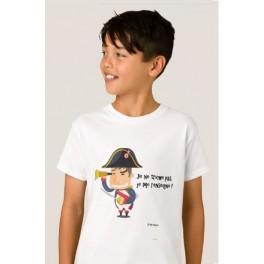 """Tee-shirt enfant """"P'tit Napo, le p'tit tricheur"""""""